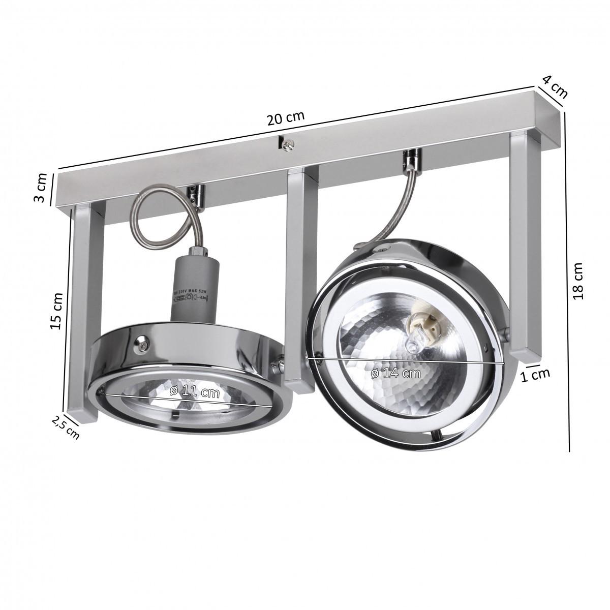 Finebuy spot lampe 2 flammig deckenleuchte strahler for Deckenleuchte spot