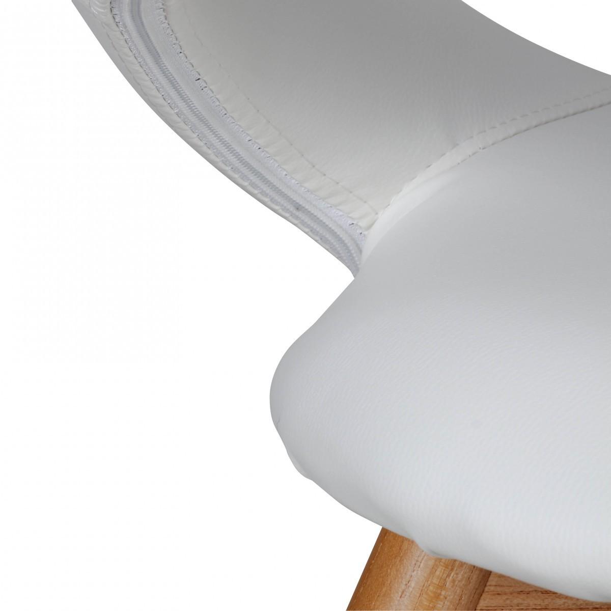 2x finebuy esszimmerstuhl skandinavisch aus holz sitz kunstleder wei schwarz 40696 - Esszimmerstuhl skandinavisch ...