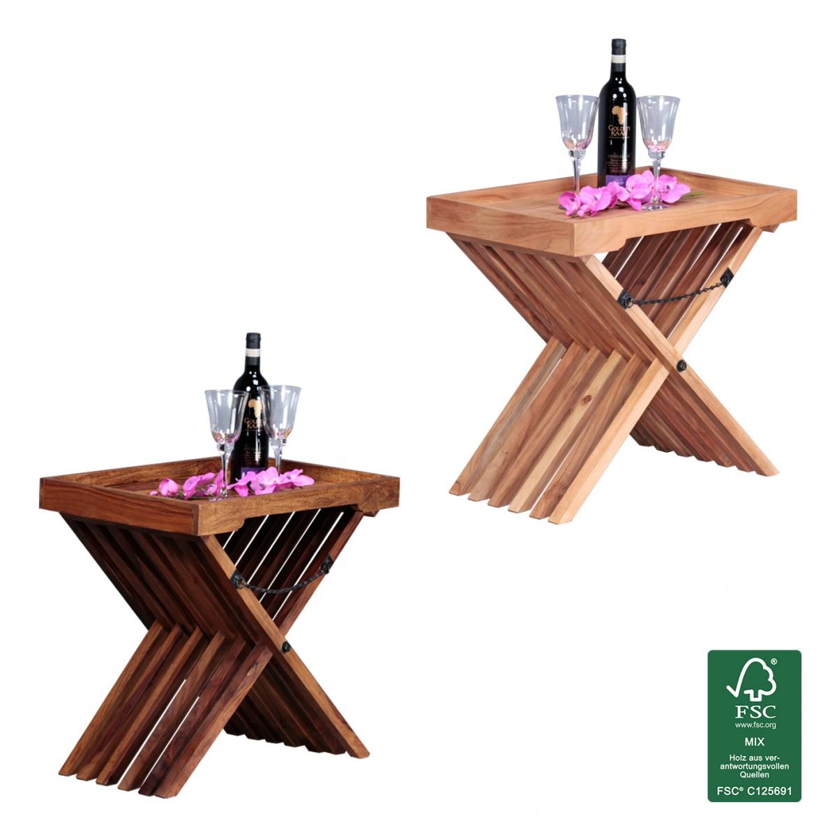 Finebuy beistelltisch massivholz design klapptisch for Design tisch massivholz