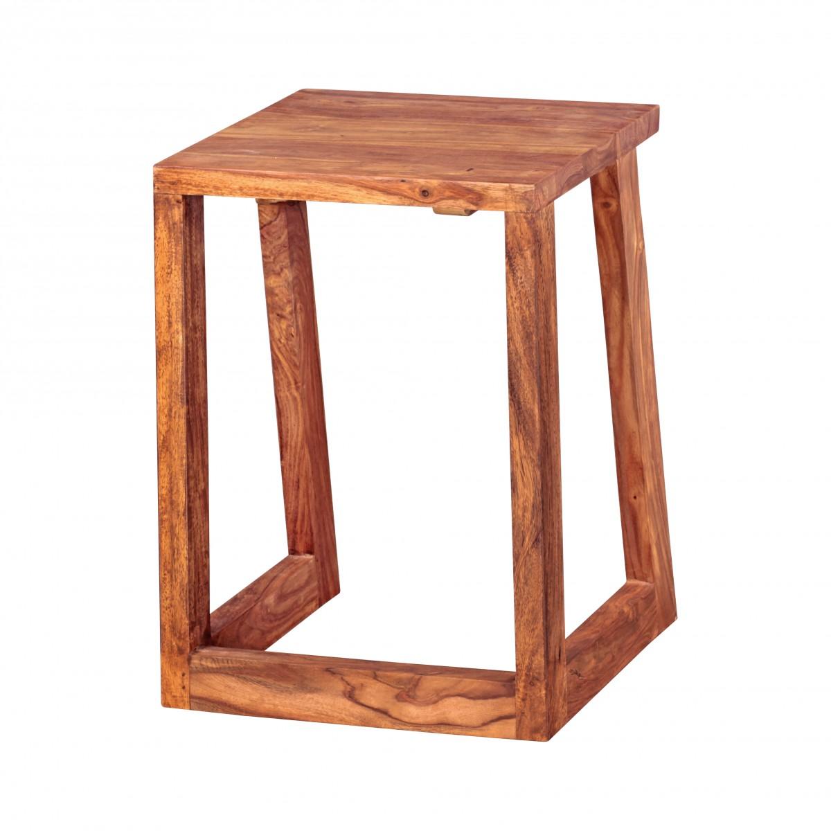 finebuy 2er set beistelltisch massivholz design wohnzimmer tisch eckig nachttisch satztisch. Black Bedroom Furniture Sets. Home Design Ideas