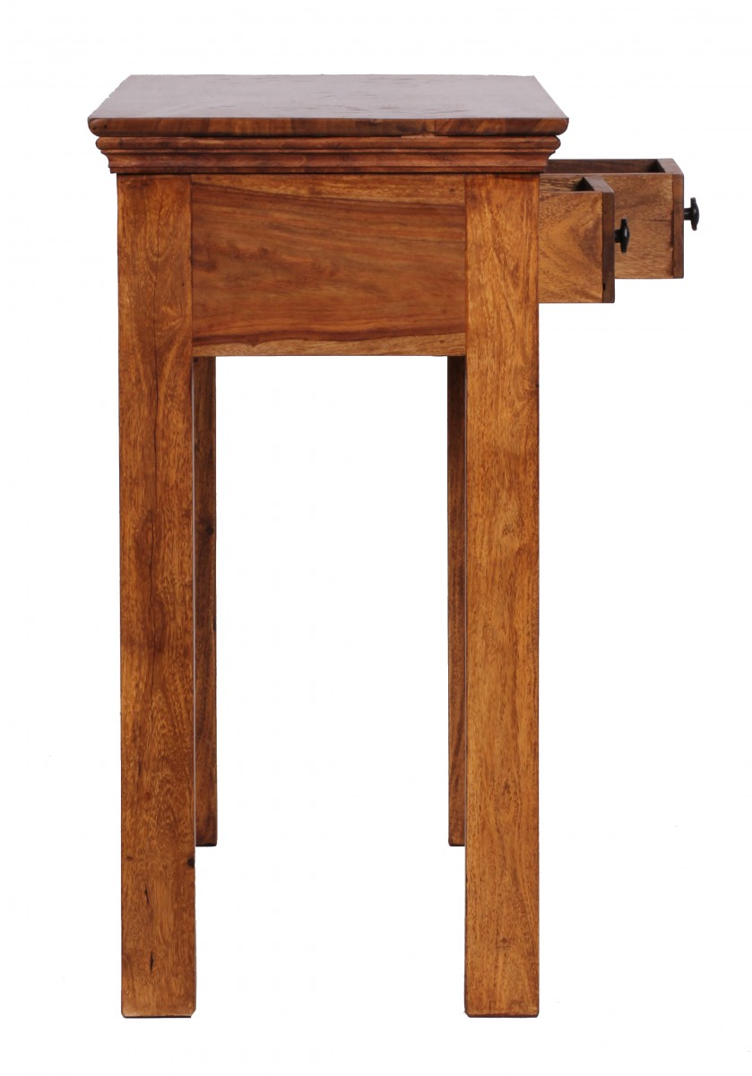 finebuy konsolentisch massivholz konsole mit 2 schubladen schreibtisch 110 x 40 cm landhaus. Black Bedroom Furniture Sets. Home Design Ideas