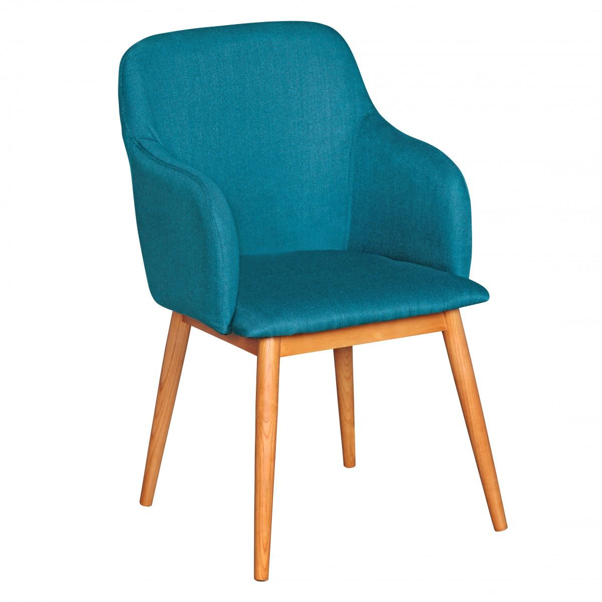 Finebuy silla de comedor retro silla tapizada silla - Tela para sillas de comedor ...