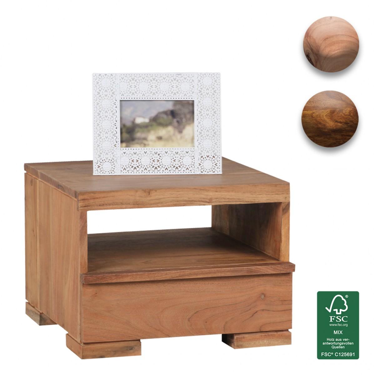 Finebuy madera maciza mesa de noche 30 cm estilo de pa s for Mesillas de noche 30 cm