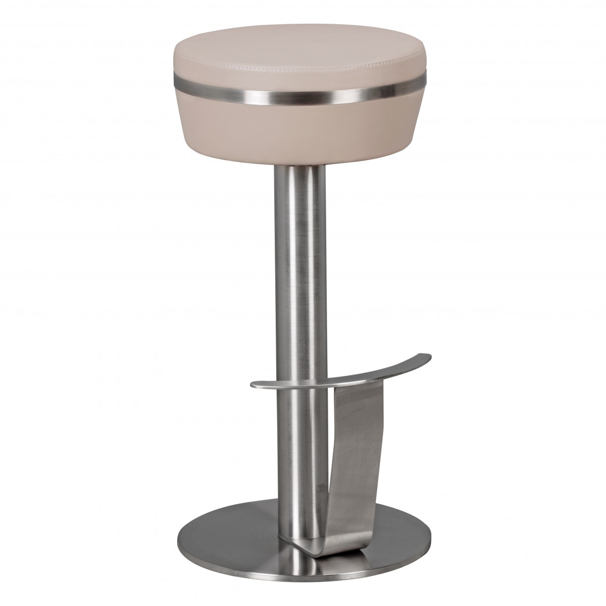 Finebuy Barstool Stainless Steel With Leatherette Seat