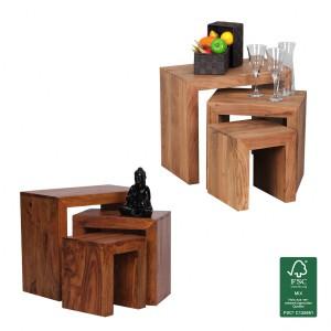 Der tische online shop finebuy 4 for Wohnzimmertisch naturholz