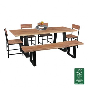 Der esstische online shop finebuy for Esszimmertisch naturholz