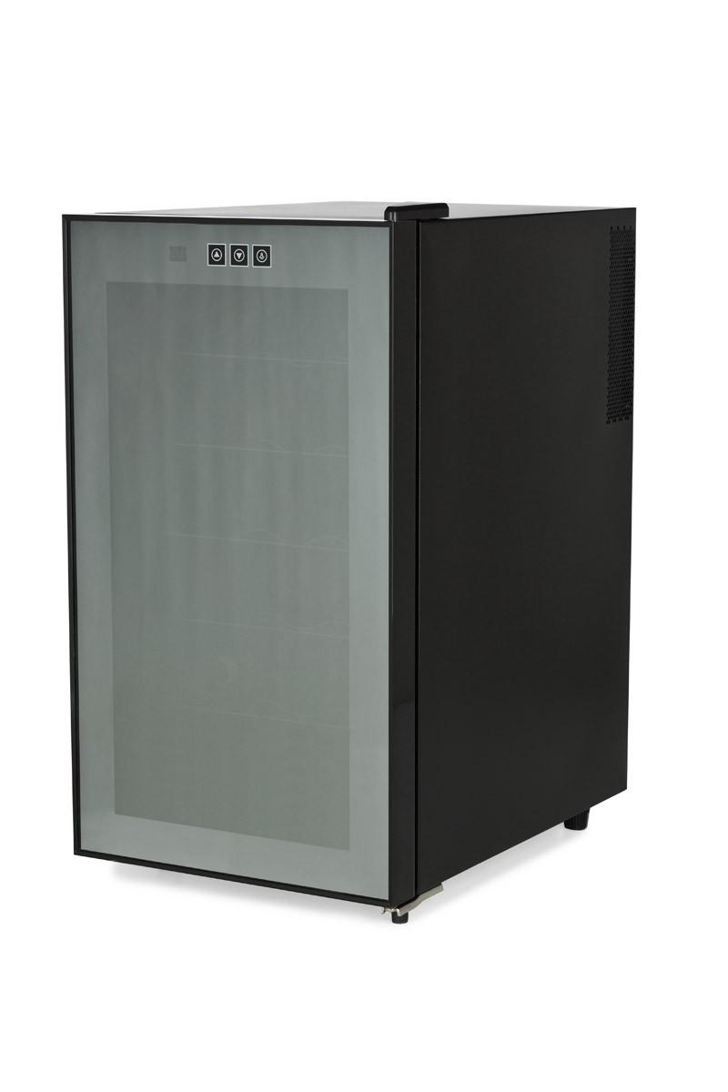amstyle cave a vin refrigeree frigo 18 bouteilles mini bar 48l led neuf ce b. Black Bedroom Furniture Sets. Home Design Ideas