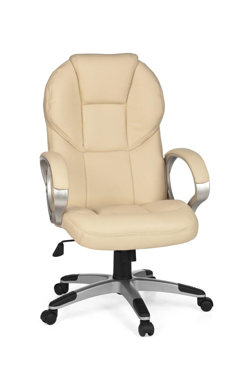 amstyle b rostuhl mate beige chefsessel schreibtischstuhl drehstuhl b rosessel ebay. Black Bedroom Furniture Sets. Home Design Ideas