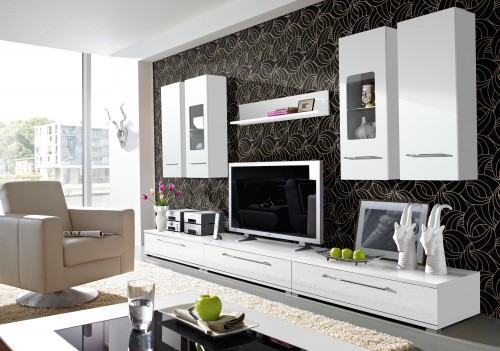 wandschrank wandkonsole wohnzimmer kernbuche ge lt massiv. Black Bedroom Furniture Sets. Home Design Ideas