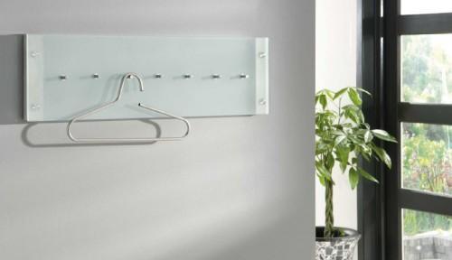 design garderobe aus edelstahl wandgarderobe mit glas. Black Bedroom Furniture Sets. Home Design Ideas