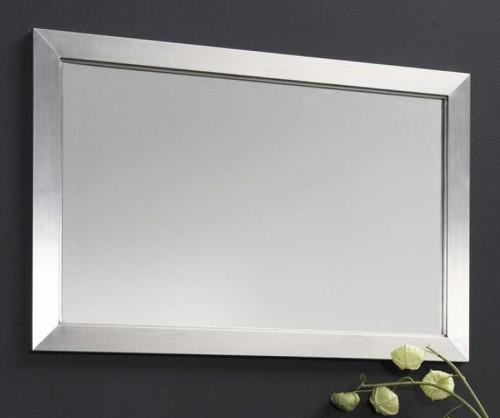 design spiegel 60 x 90 cm garderobenspiegel wandspiegel rahmen aus edelstahl neu ebay. Black Bedroom Furniture Sets. Home Design Ideas