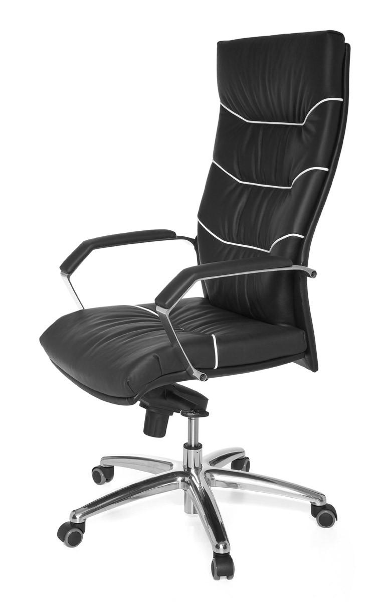 amstyle xxl ex cutif chaise de bureau ferrol cuir noir 120 kg office neuf ebay. Black Bedroom Furniture Sets. Home Design Ideas