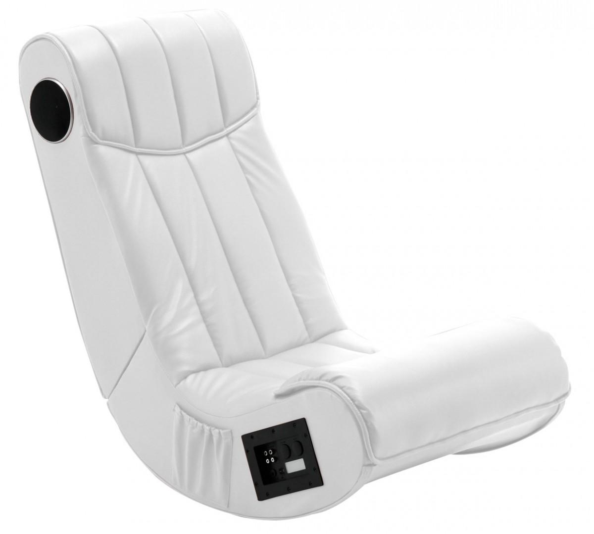 Folding Gaming Sound Chair Rocker Music White 2.1 Sound