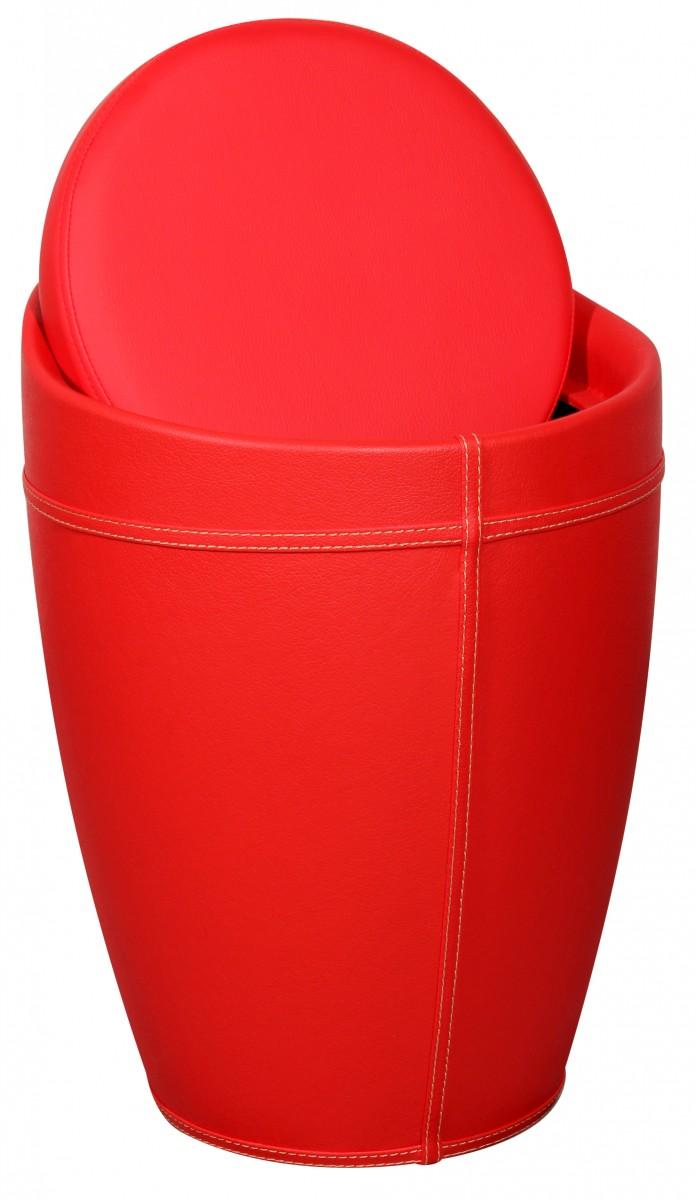 amstyle w schebeh lter lucy w schekorb farbe rot hocker mit funktion badhocker bezug kunstleder. Black Bedroom Furniture Sets. Home Design Ideas