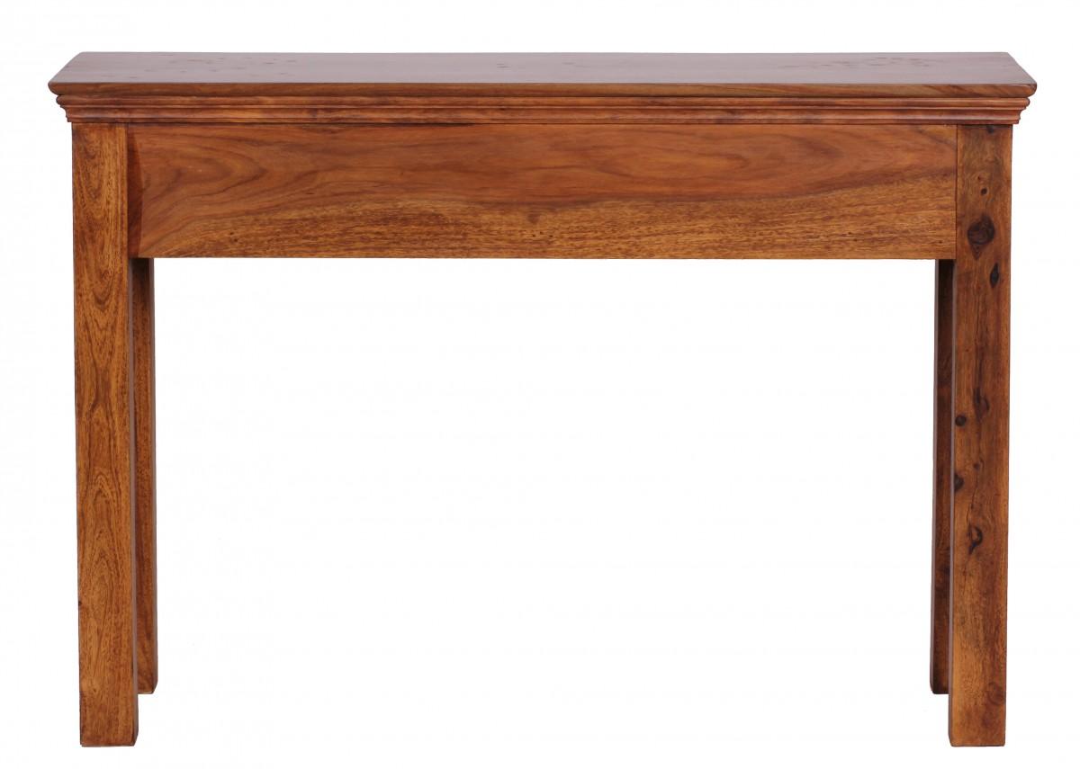 Wohnling sheesham table console bois massif 110 cm avec 2 for Table hauteur 110 cm