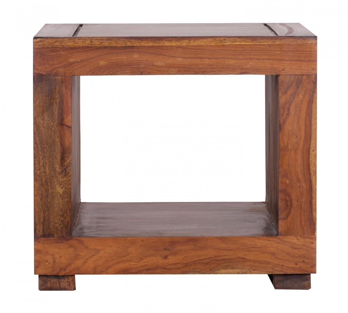 wohnling couchtisch massiv holz sheesham 50 cm breit wohnzimmer tisch design dunkel braun. Black Bedroom Furniture Sets. Home Design Ideas