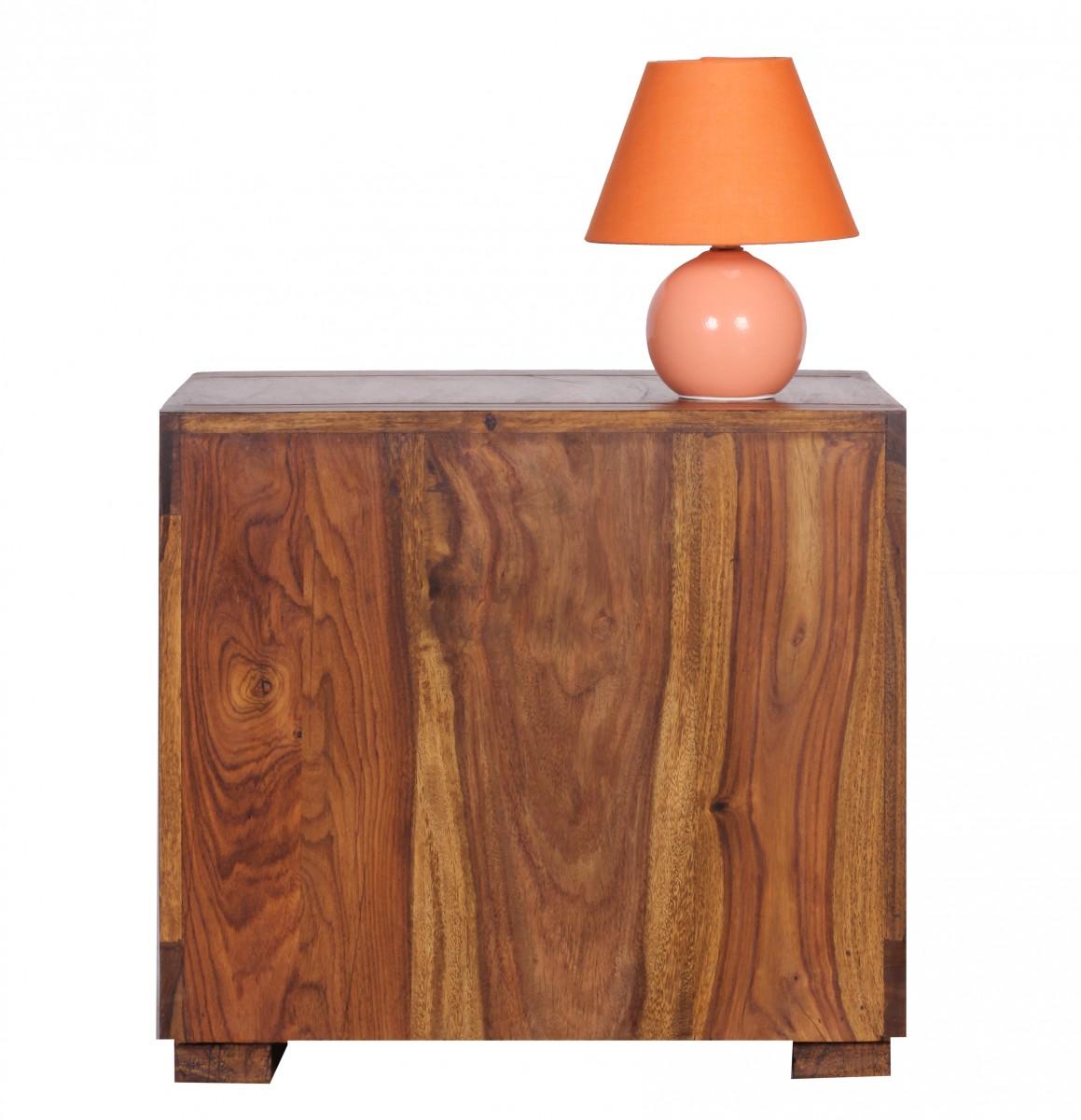 wohnling sheesham mesa de centro tresillo auxiliar madera maciza 50x50 cm nuevo ebay. Black Bedroom Furniture Sets. Home Design Ideas