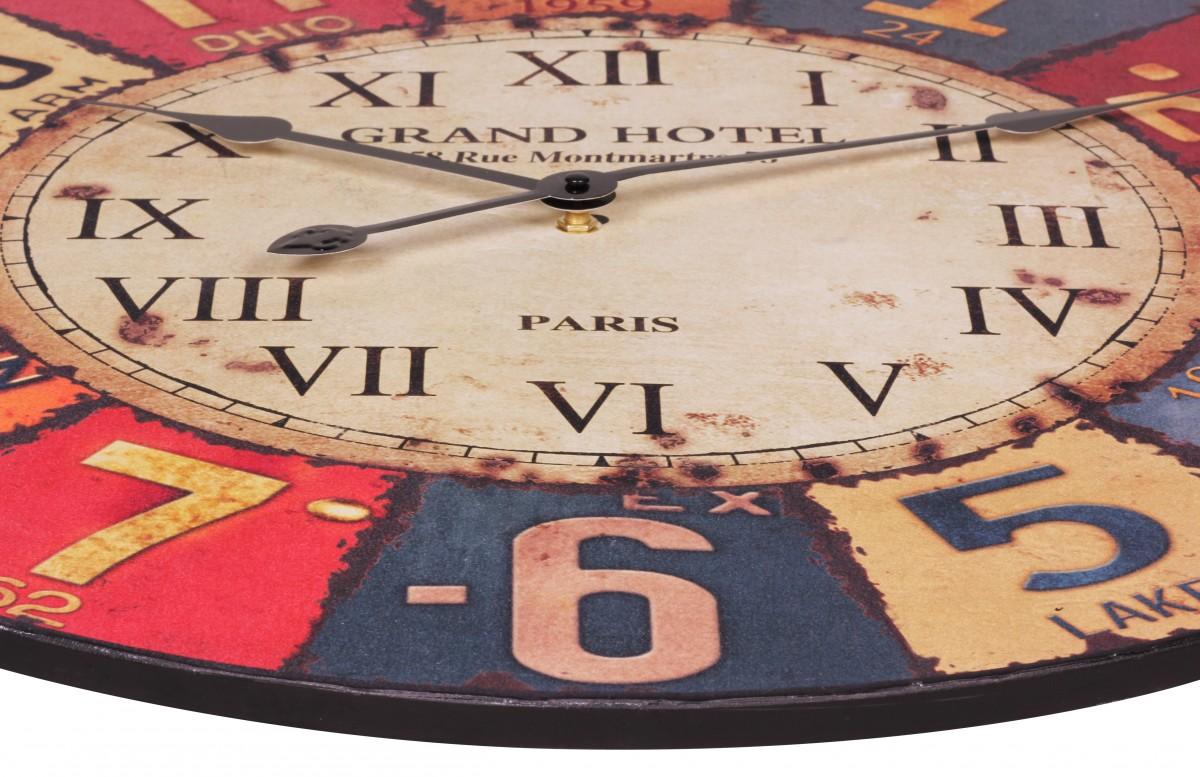 Wohnling grand h tel 60 cm conception de l 39 horloge murale - Horloge murale 60 cm ...