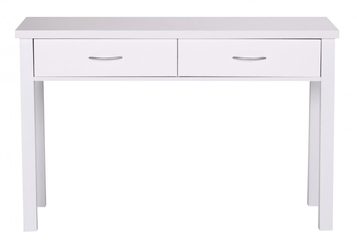 wohnling schreibtisch sam wei mit 2 schubladen 120 cm 32715. Black Bedroom Furniture Sets. Home Design Ideas