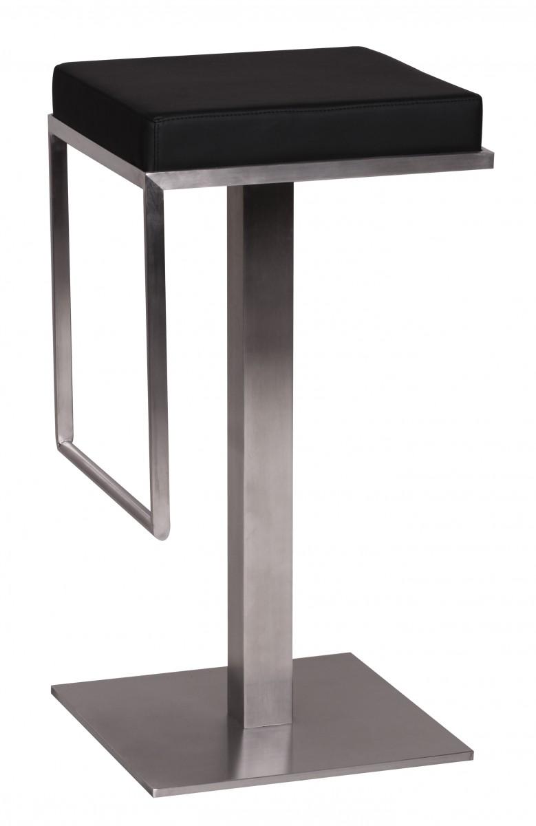 Wohnling tabouret chaise de bar noir neuf similicuir meuble fauteuil cuisine - Chaise cuisine noire ...