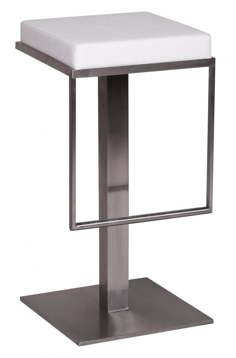 barhocker wohnling durable m2 edelstahl geb rstet wei 32819. Black Bedroom Furniture Sets. Home Design Ideas