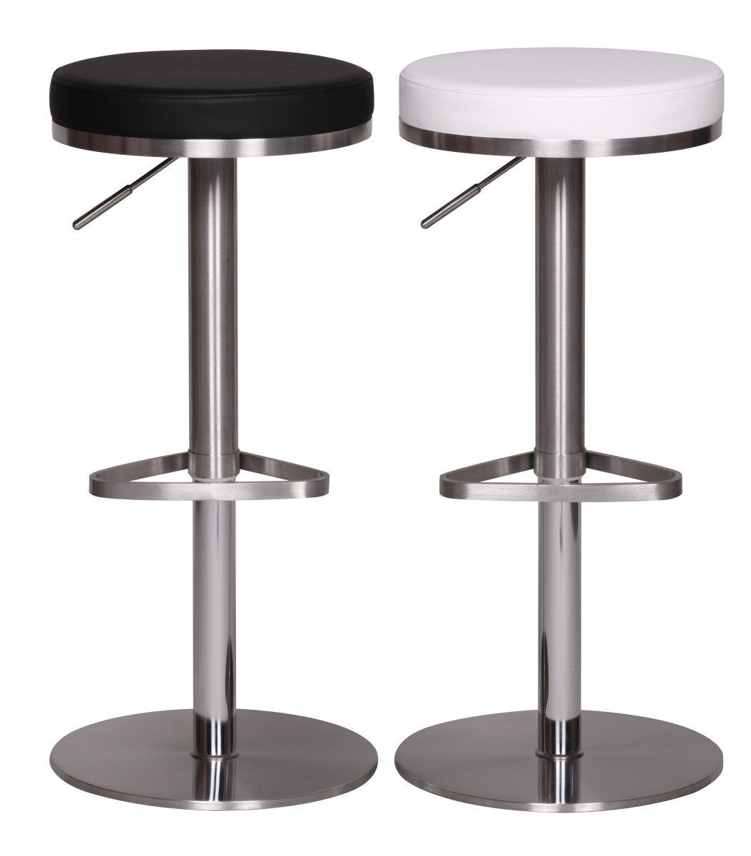 wohnling durable m7 barhocker edelstahl schwarz barstuhl modern hocker verstellbar design. Black Bedroom Furniture Sets. Home Design Ideas