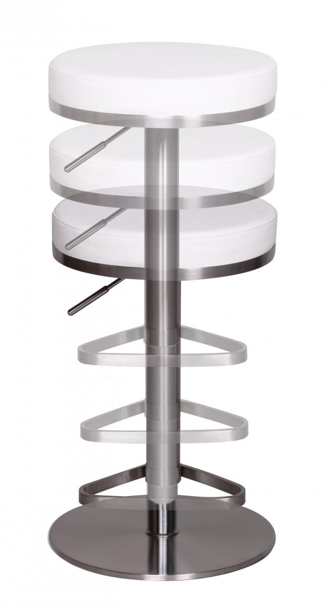 Wohnling durable m7 barhocker edelstahl wei barstuhl for Moderne barhocker edelstahl