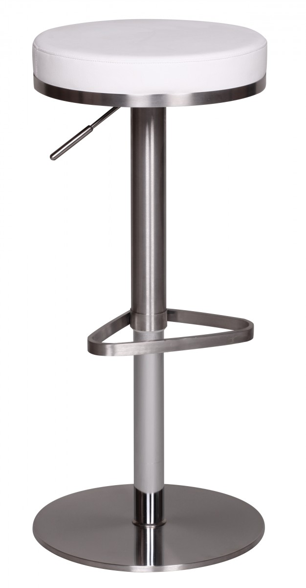 barhocker wohnling durable m7 edelstahl geb rstet wei 32829. Black Bedroom Furniture Sets. Home Design Ideas