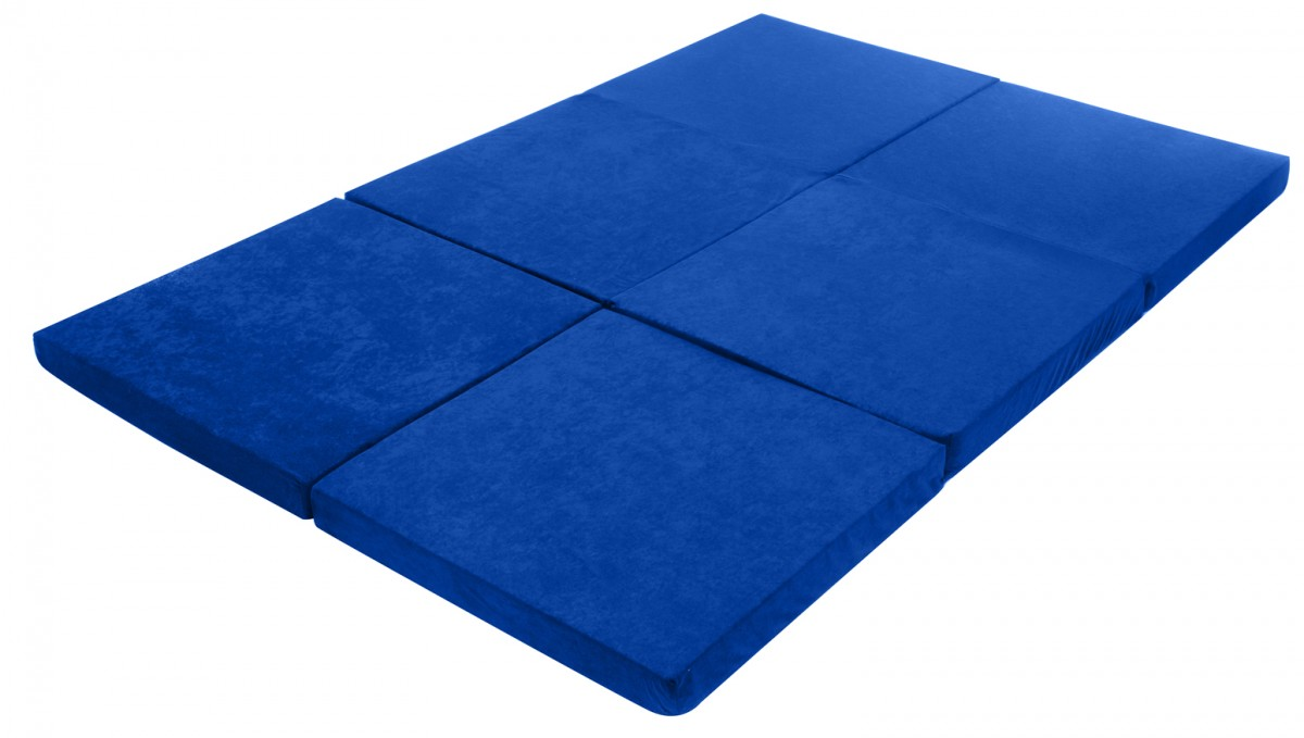doppel klappmatratze 190 x 126 cm 6 fach faltbar aus 100. Black Bedroom Furniture Sets. Home Design Ideas