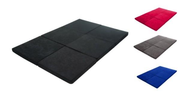 doppel klappmatratze 190 x 126 cm 6 fach faltbar aus 100 polyester farbe w hlbar 33226. Black Bedroom Furniture Sets. Home Design Ideas