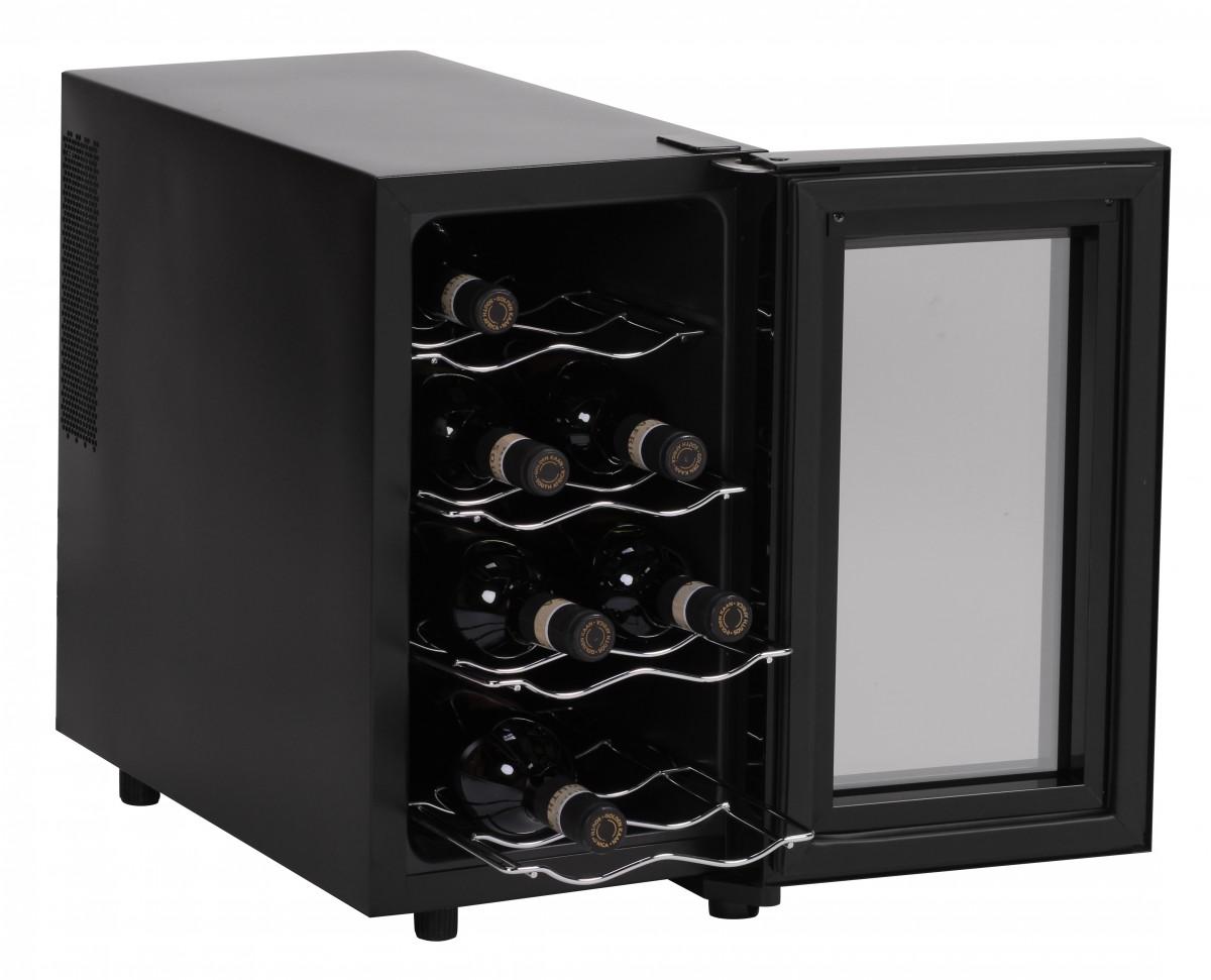amstyle cave a vin refrigeree frigo 8 bouteilles mini bar 23l led neuf ce a ebay. Black Bedroom Furniture Sets. Home Design Ideas