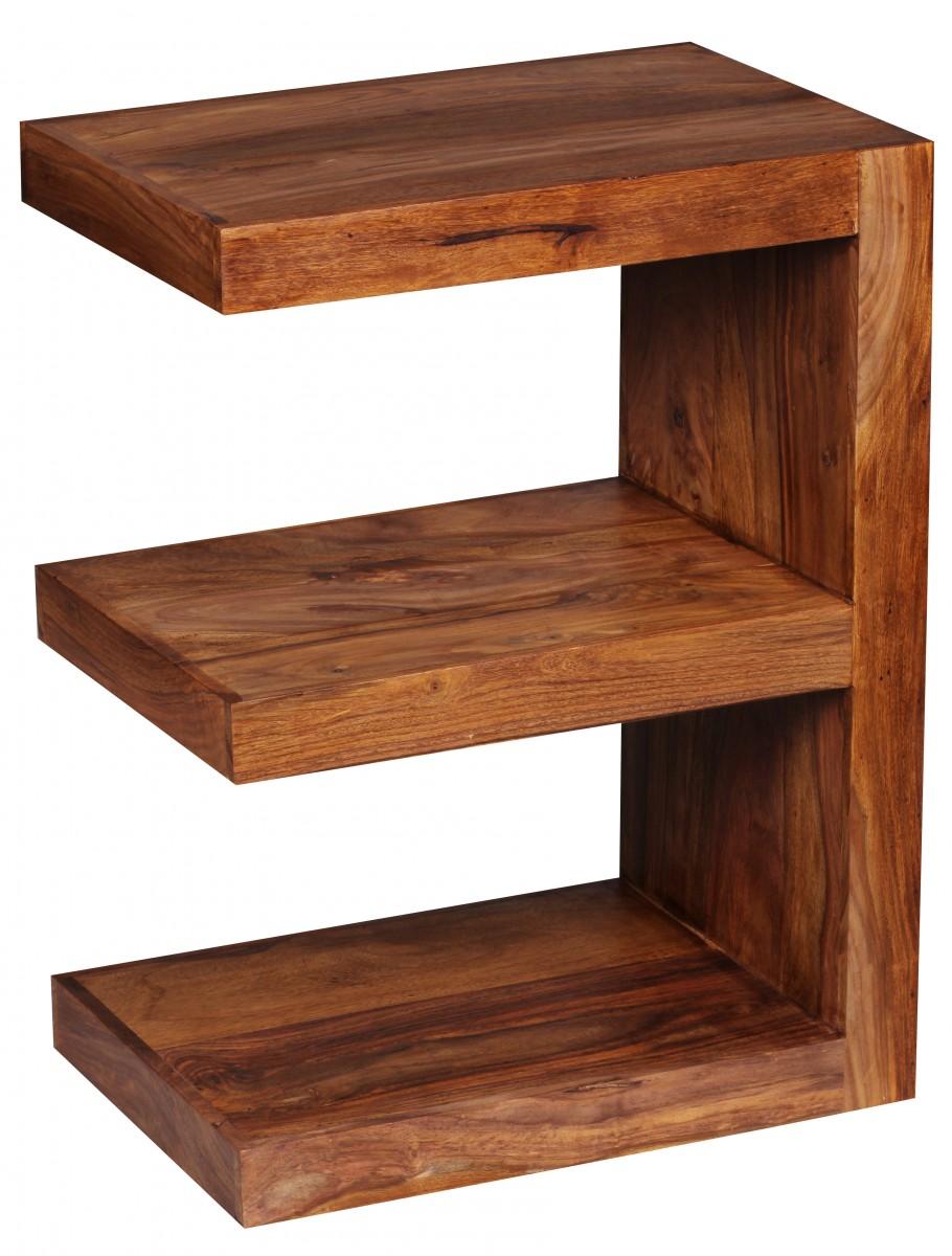 Wohnling beistelltisch massivholz sheesham e cube 60cm for Couchtisch 30 cm hoch