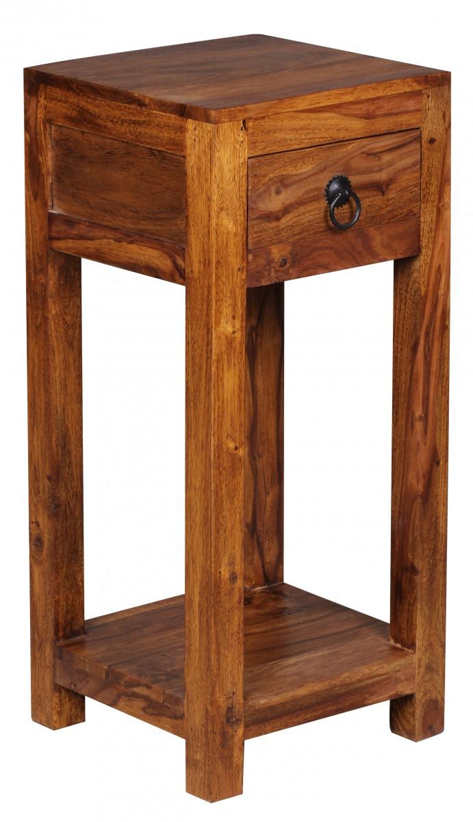 wohnling beistelltisch massiv holz sheesham 68cm hoch wohnzimmer tisch. Black Bedroom Furniture Sets. Home Design Ideas