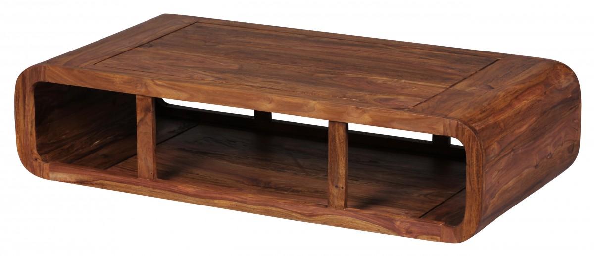 WOHNLING Couchtisch Massiv-Holz Sheesham 120 cm breit ...