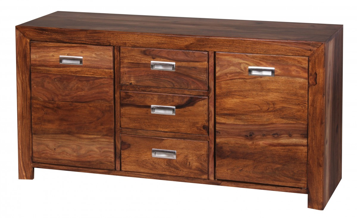 Wohnling sheesham massiv sideboard 135 x 40 cm anrichte for Sideboard hohe 70 cm