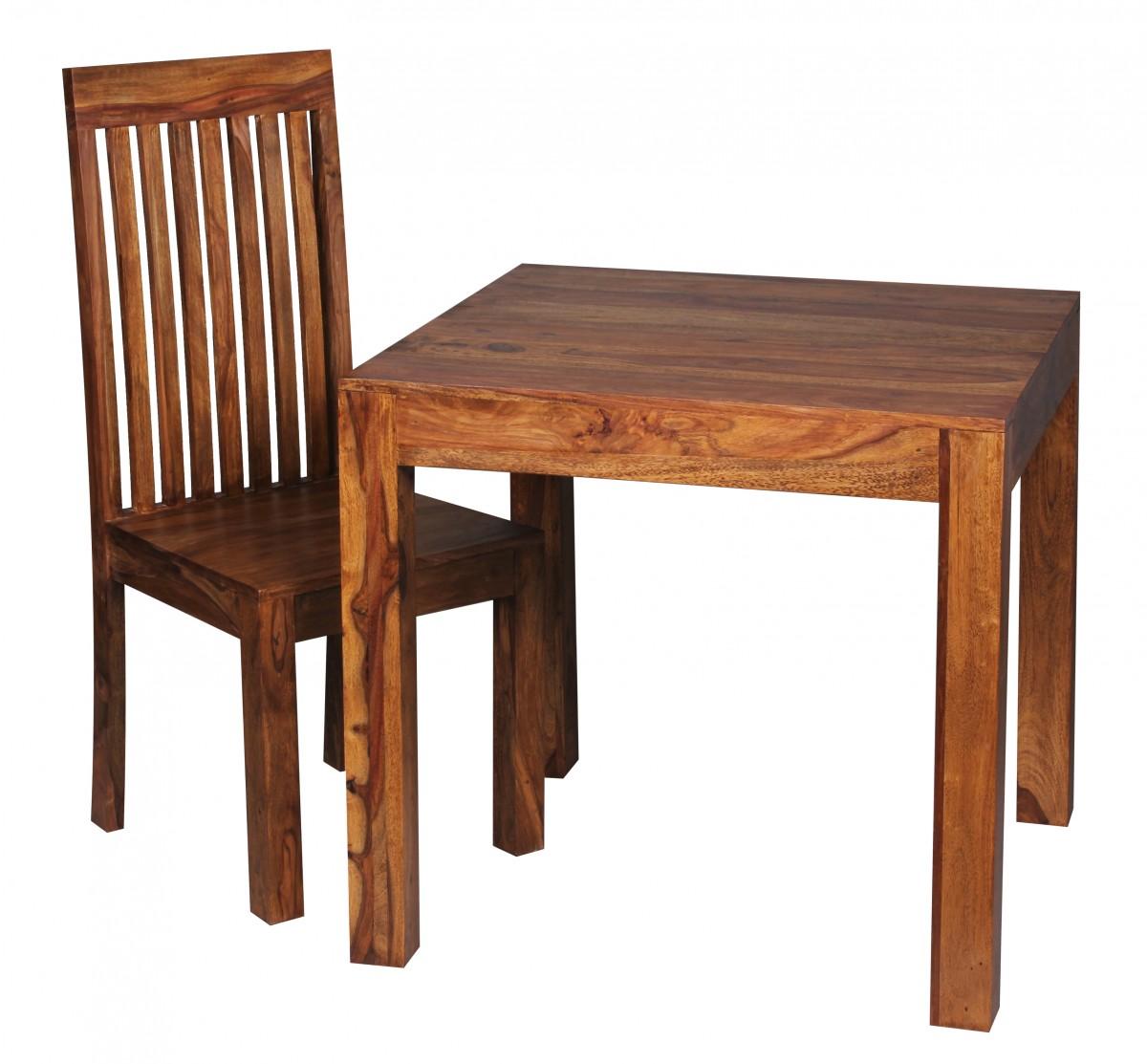 Wohnling design esstisch quadratisch 80x80cm massivholz for Design tisch quadratisch