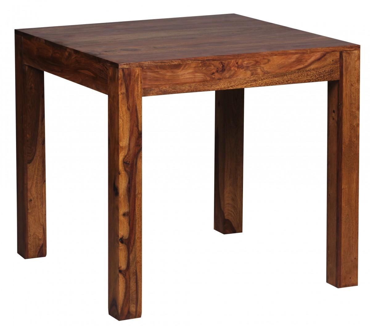 Wohnling table manger carr e sheesham salle manger de for Table salle manger 80 cm largeur