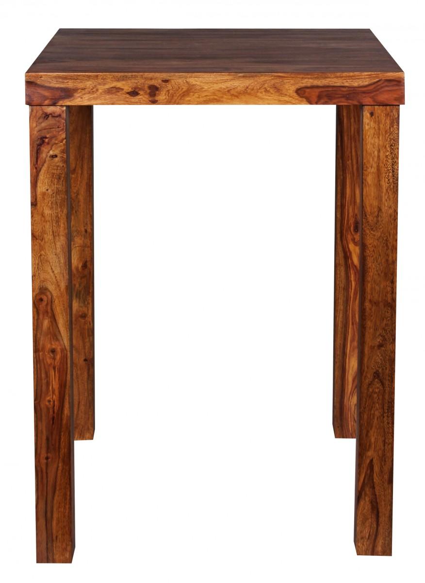 wohnling stehtisch massiv holz sheesham bartisch bistrotisch 80 x 80cm tisch neu ebay. Black Bedroom Furniture Sets. Home Design Ideas