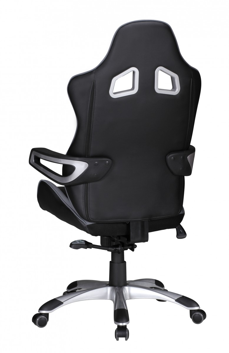 amstyle b rostuhl speed grau racing chefsessel racer drehstuhl 110kg synchronmechanik. Black Bedroom Furniture Sets. Home Design Ideas
