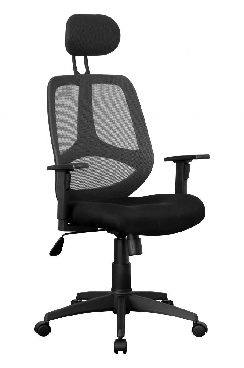Xxl chefsessel stoff netz schwarz drehstuhl b rostuhl for Schreibtischstuhl designklassiker