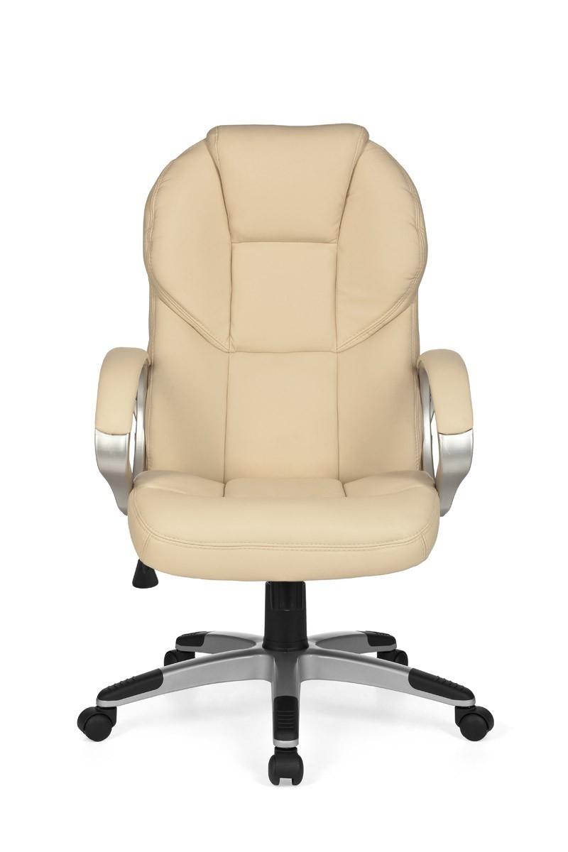 finebuy xxl chefsessel leder optik beige drehstuhl. Black Bedroom Furniture Sets. Home Design Ideas