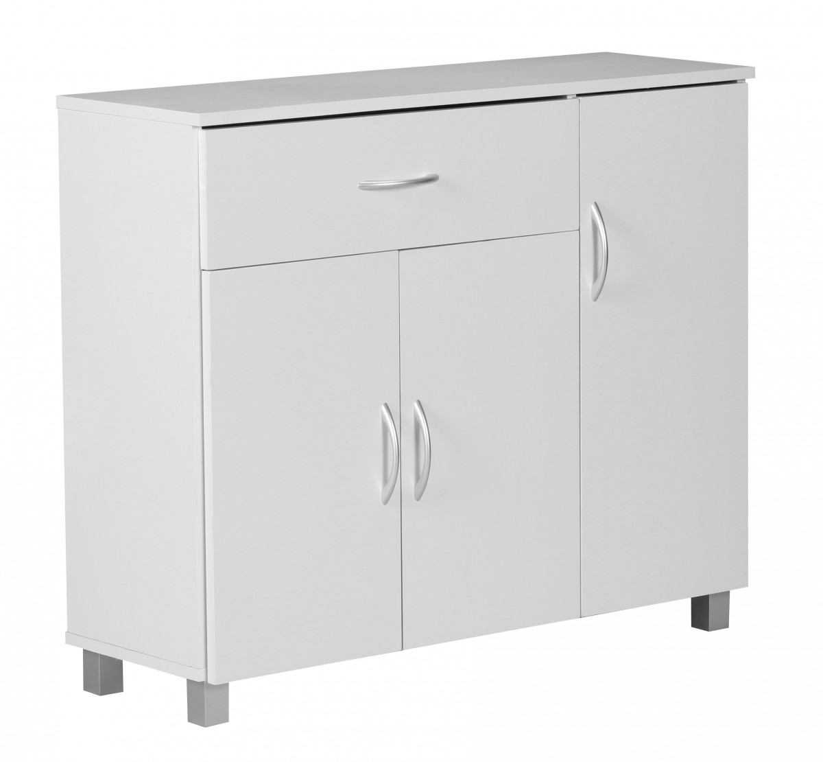 Wohnling sideboard doors drawer cupboard buffet furniture for Sideboard 90 cm hoch