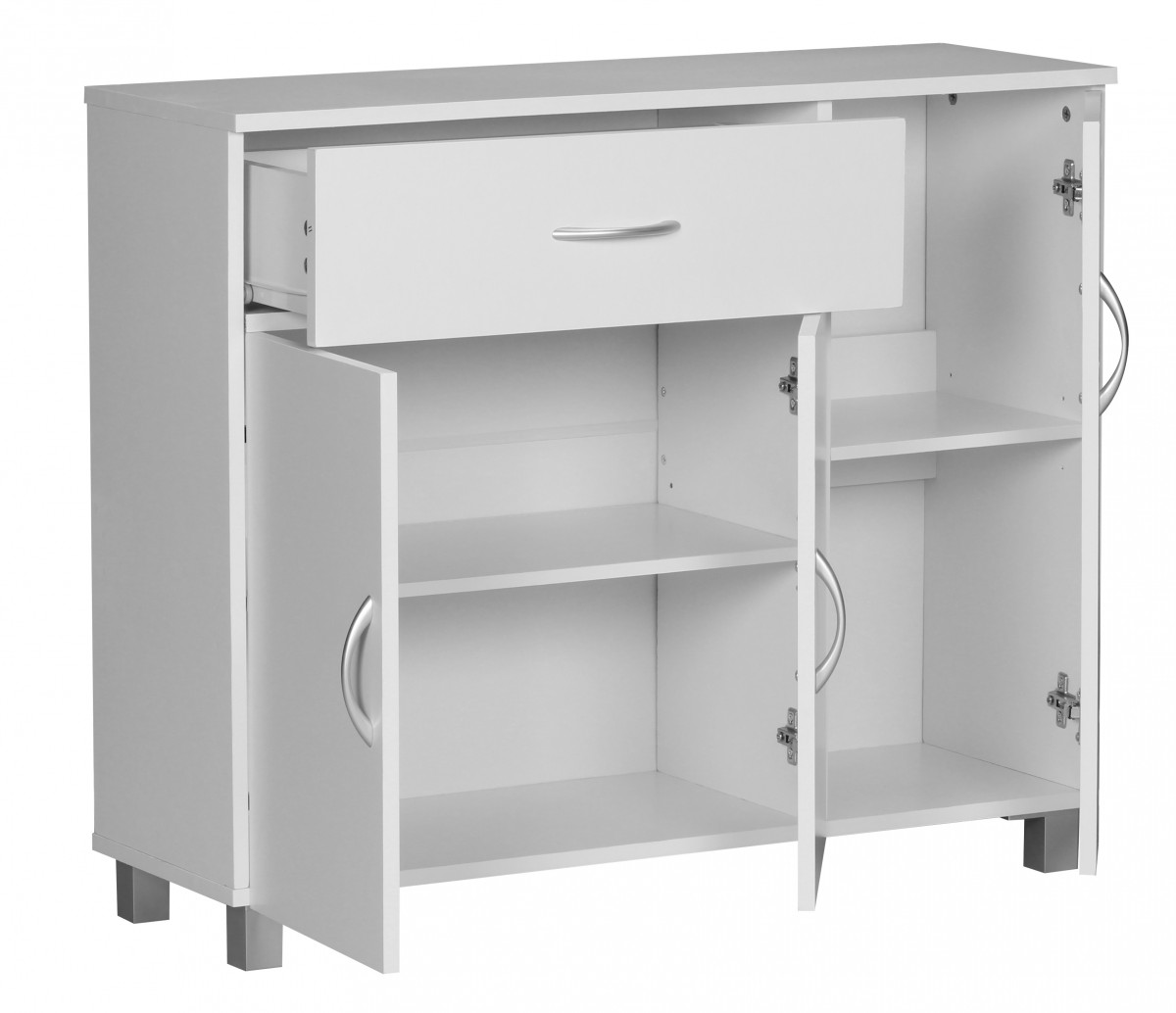 wohnling sideboard doors drawer cupboard buffet furniture cabinet. Black Bedroom Furniture Sets. Home Design Ideas