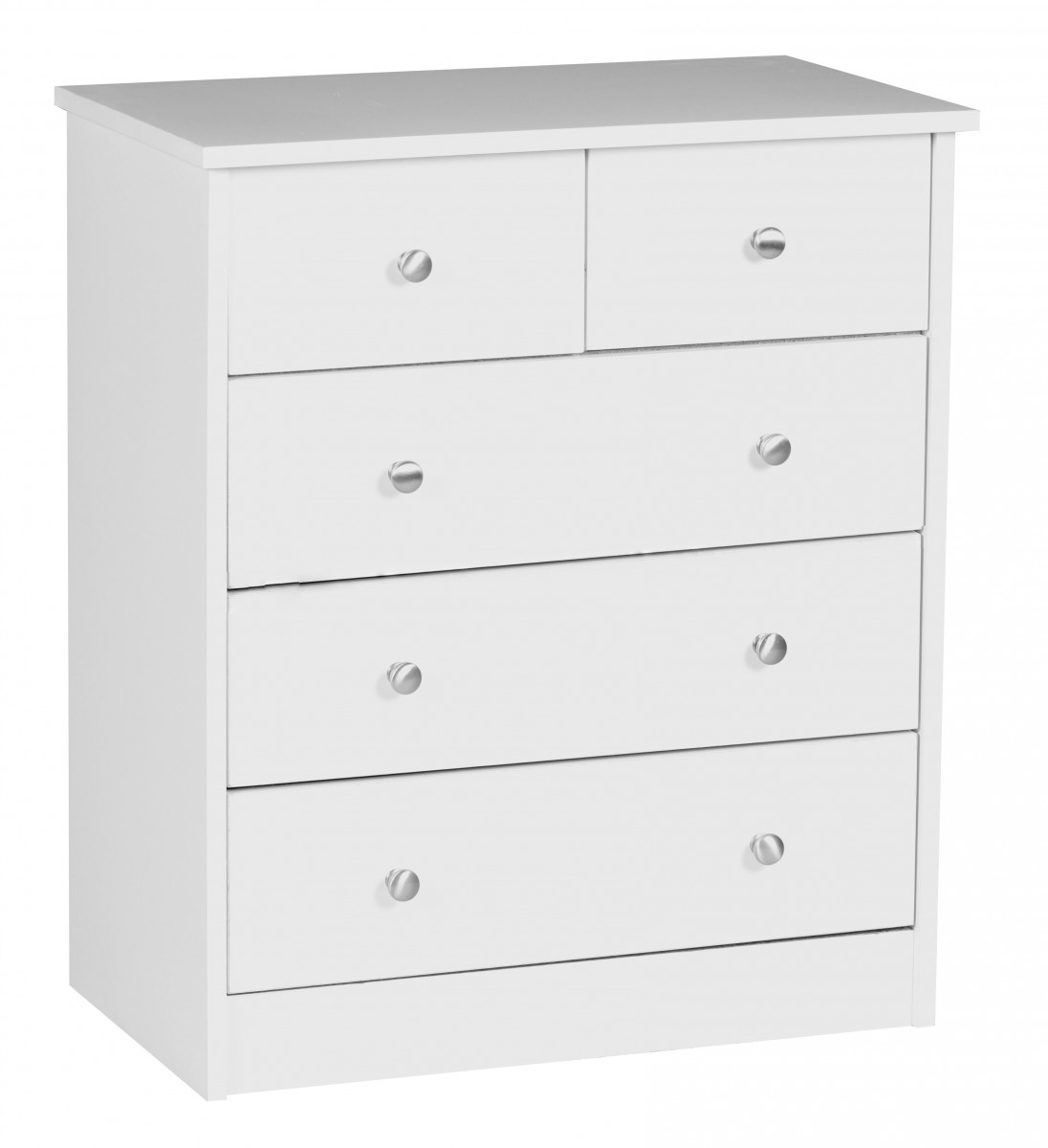 wohnling blanc commode 60 x 70 x 35 cm buffet 5 tiroirs armoire buffet neuf ebay. Black Bedroom Furniture Sets. Home Design Ideas