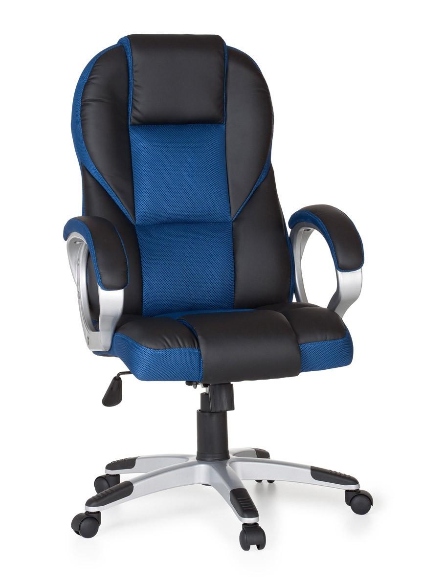 B rostuhl race blau chefsessel racer drehstuhl gaming for Schreibtischstuhl designklassiker