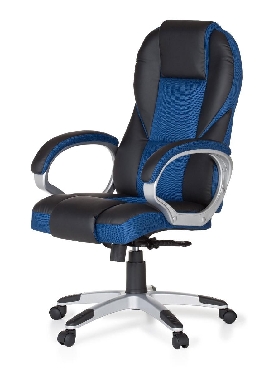 b rostuhl race blau chefsessel racer drehstuhl gaming. Black Bedroom Furniture Sets. Home Design Ideas