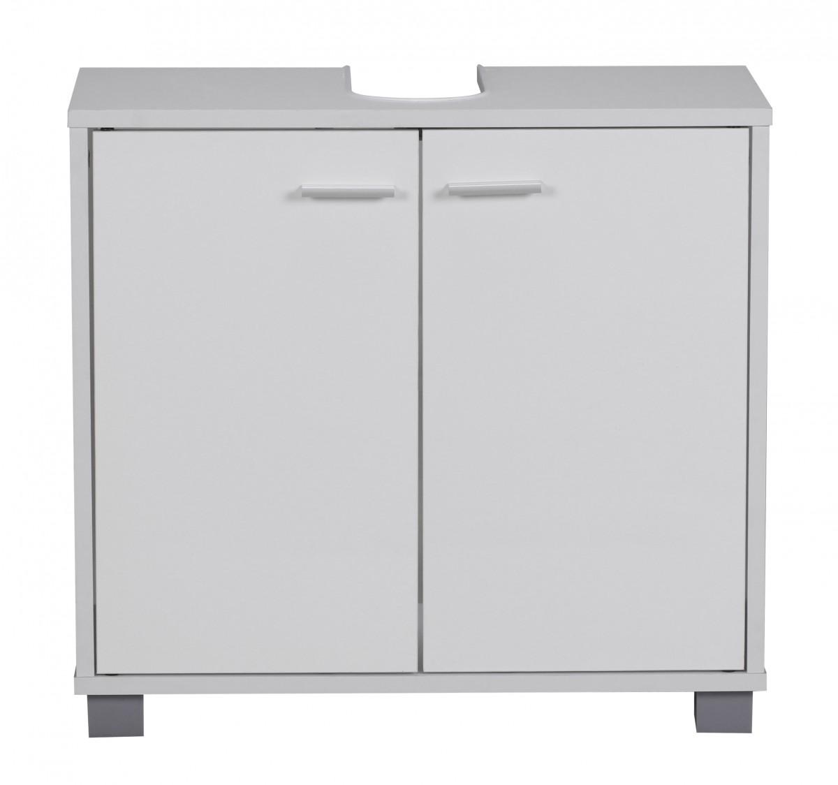 wohnling bad waschbecken unterschrank 60 x 55 x 30 cm 2 t ren wei 35998. Black Bedroom Furniture Sets. Home Design Ideas