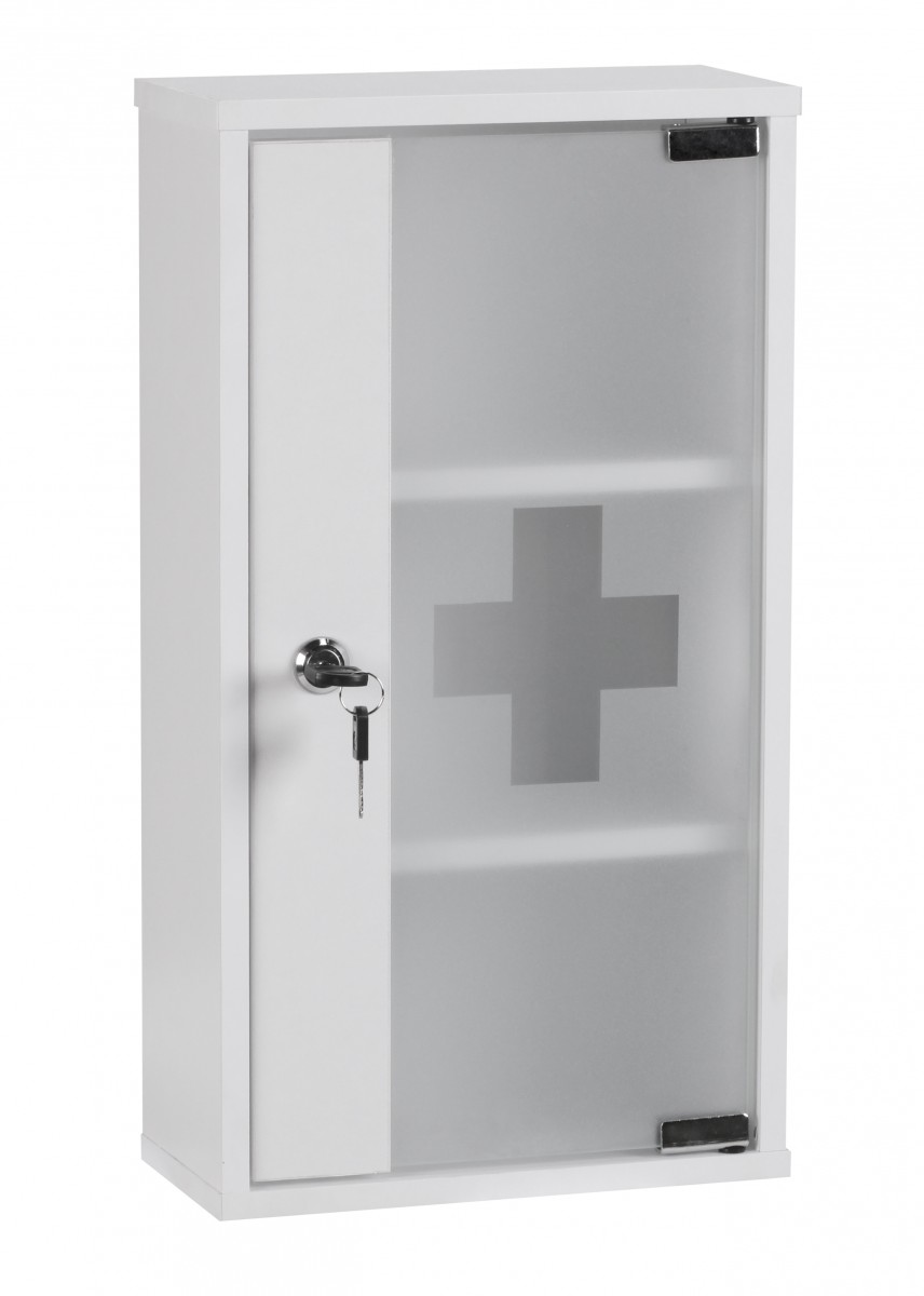 lockable bathroom cabinet wohnling aid medicine cabinet lockable white glass 22757