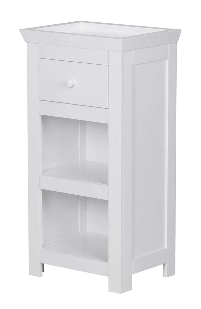 Wohnling armoire de toilette avec tiroir et d p t salle de bains blanc neuf - Armoire salle de bain blanc ...
