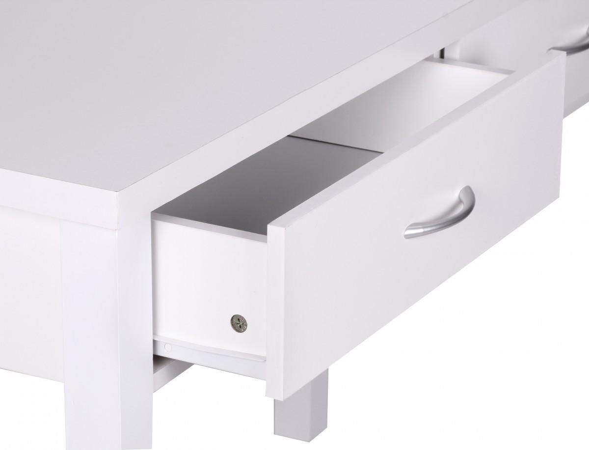 finebuy schreibtisch wei mit 2 schubladen 120 cm 36014. Black Bedroom Furniture Sets. Home Design Ideas